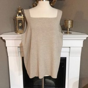 Eileen Fisher Square Neck Washable Wool Tank